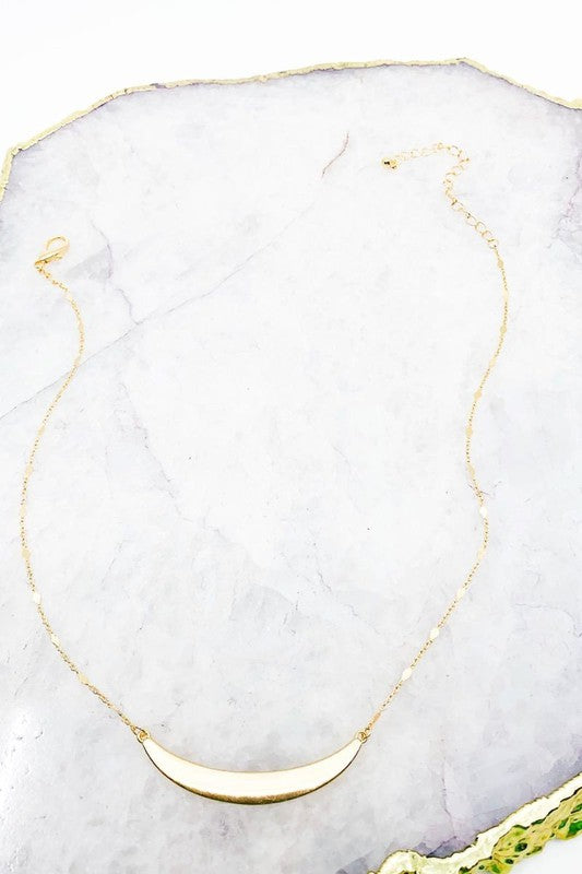 Arch Pendant Gold Necklace