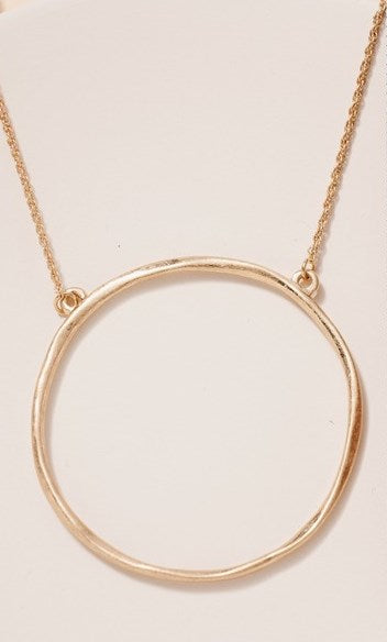 Organic Ring Short Necklace- Gold