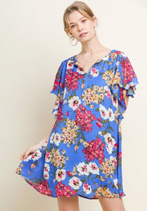 Beautiful Floral Swing Dress