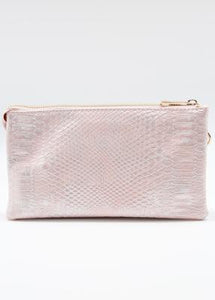 Liz Crossbody Bag- Pale Blush Snakeskin