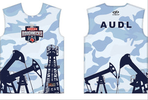 Long Sleeve Fan Jersey - Blue Camo
