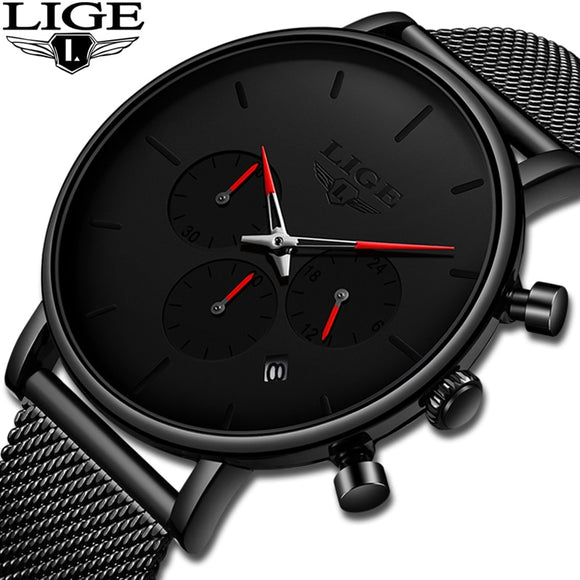 Fashion Top Brand Luxury Sport Ultra-Thin Quartz Watch