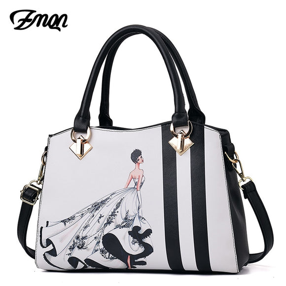 ZMQN Luxury Leather Ladies Hand Bags