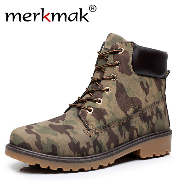 Super Fashion Men Autumn Winter Leather Boots Man Outdoor