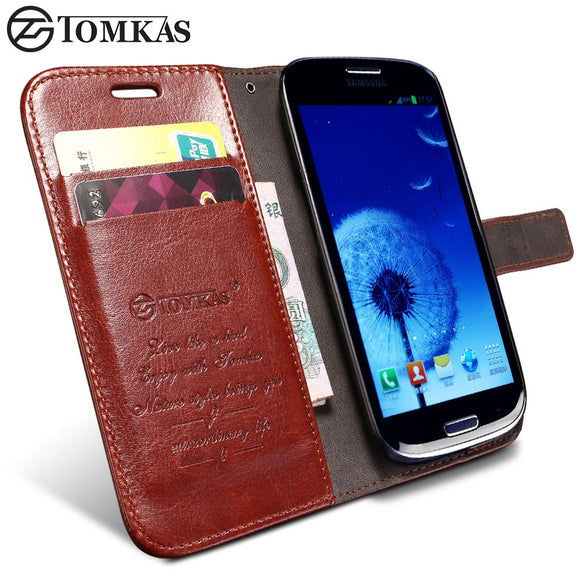 Luxury Retro PU Leather Wallet Case For Samsung Galaxy S3 i9300
