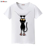 BGtomato Hot sale summer naughty black cat 3D T-shirt