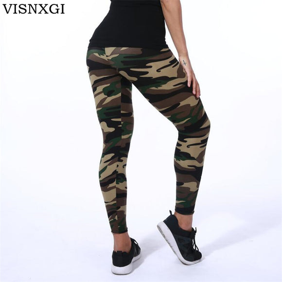 Camouflage High-Quality Elastic Skinny Women Leggings