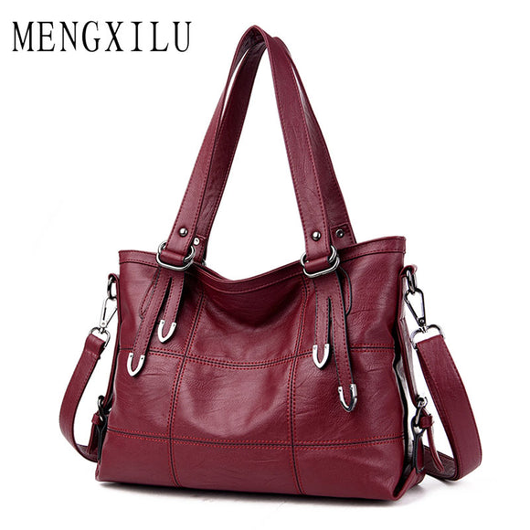 Women's Leather Handbags Big Casual Tote Bag Ladies Shoulder Bag