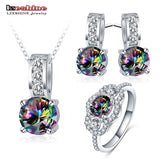 LZESHINE Fashion Wedding Jewelry Sets Silver Color