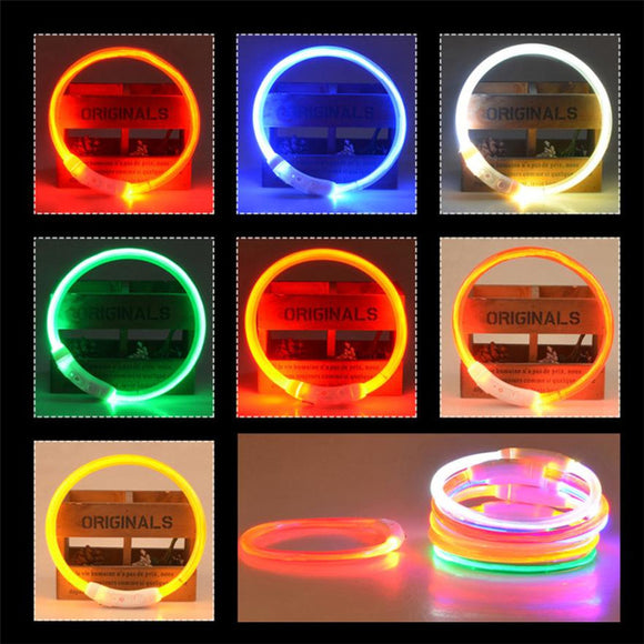 High-quality Rechargeable USB LED Pet Dog Collar Anti Lost Flashing light