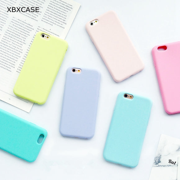 XBXCase Macarons Color TPU Silicone Frosted Matte Case
