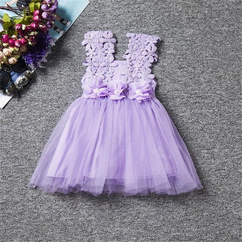 cec987dc32584 New XMAS Baby Girls Party Lace Tulle Flower Gown Fancy Bridesmaid ...