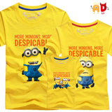 AD 1pcs Family T-shirts Quality Cotton minion Father Mother and Kids