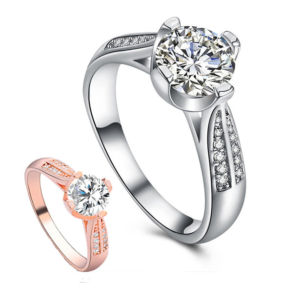 Flower Crystal Wedding Ring For Women Jewelry