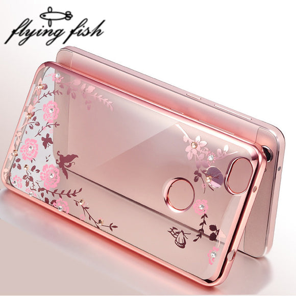 Clear Cover Soft TPU Flower Flora Phone Cases For Xiomi 5.0 Inch