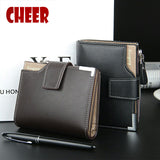 Fashion leather Men Wallet coin pocket zipper portfolio