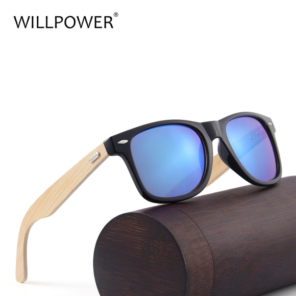 WILLPOWER Bamboo Sunglasses Women Brand