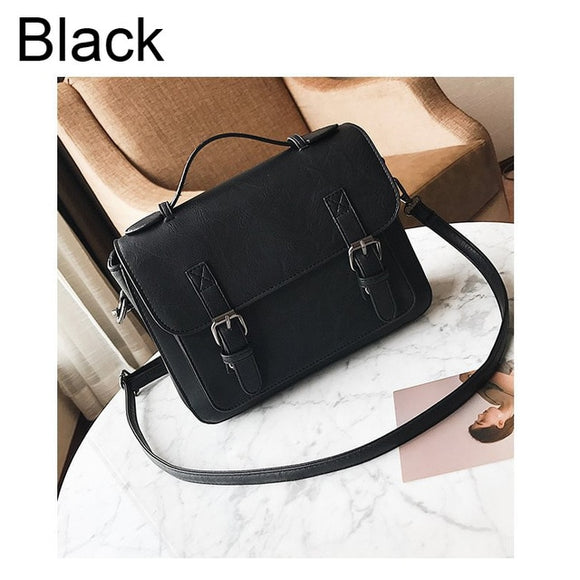 Women PU Leather Small Satchels Vintage Shoulder Bags
