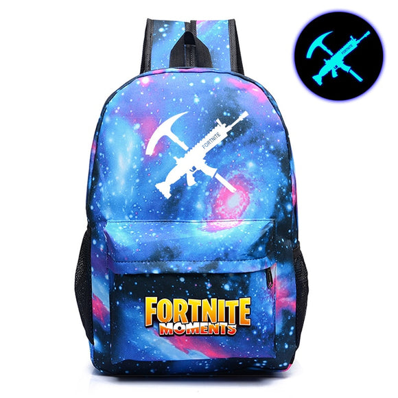 FVIP New Arrival Fortnite Backpack Cool Night Luminous School Bag