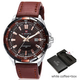 Men Leather Waterproof Analog Watches