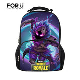 FORUDESIGNS Fortnite Battle Royale Games Pattern School Bags