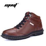 Full Grain  Leather  Men Boots Plus Size New style