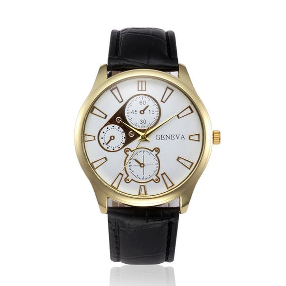 Top Luxury Band Men's Watch Business Leather Quartz Wrist Watches Men Watch