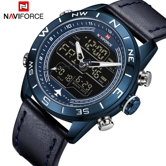 Waterproof Quartz Digital Led Clock Mens Military Wristwatch