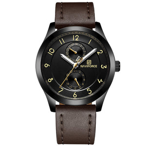 Ultra thin Mens Watches Top Brand Luxury Leather Wristwatch