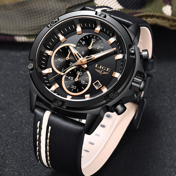 Men Top Brand Luxury Quartz Waterproof Sport Watch