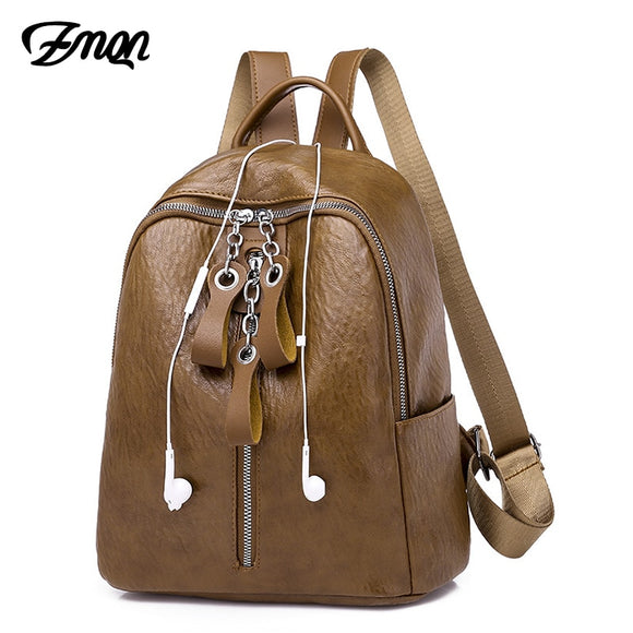 Light Weigh Casual  Women Chains Zipper Back Bag