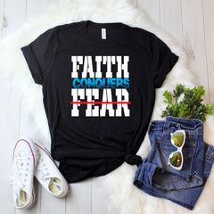 Christian t shirts faith over fear