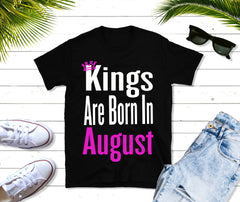 Kings Are Born in August Mens Short-Sleeve T-Shirt, gift for a king