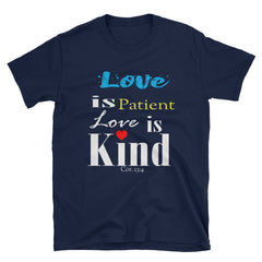 Love Is Patient Love is Kind Short-Sleeve gift T-Shirt, Christian t shirts