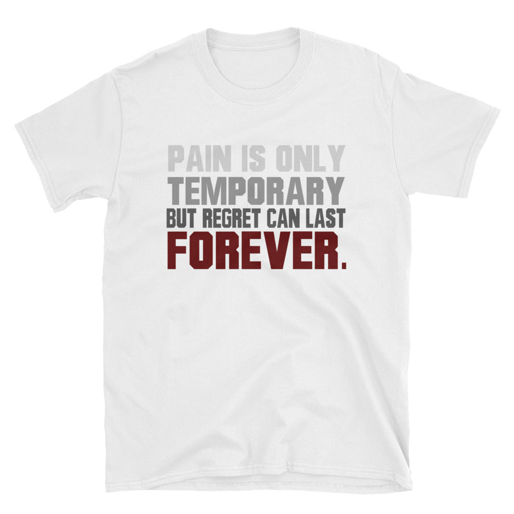 Pain is only temporary but regret can last forever. T-Shirt