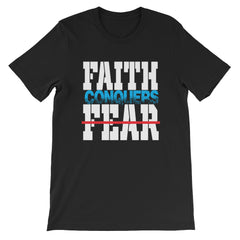 Faith Conquers Fear Short-Sleeve T-Shirt , faith over fear,Christian t-Shirts