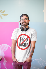 Hip hop Instrumentals - No Free Beats ! Funny T-shirt for producers & Beat Makers