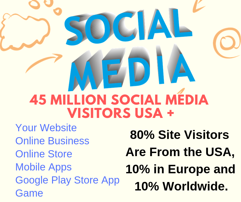 45 Million Social media Visitors