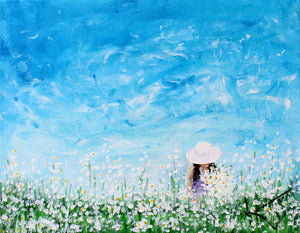 Being a Woman (Picking Daisies) - Fine Art Print