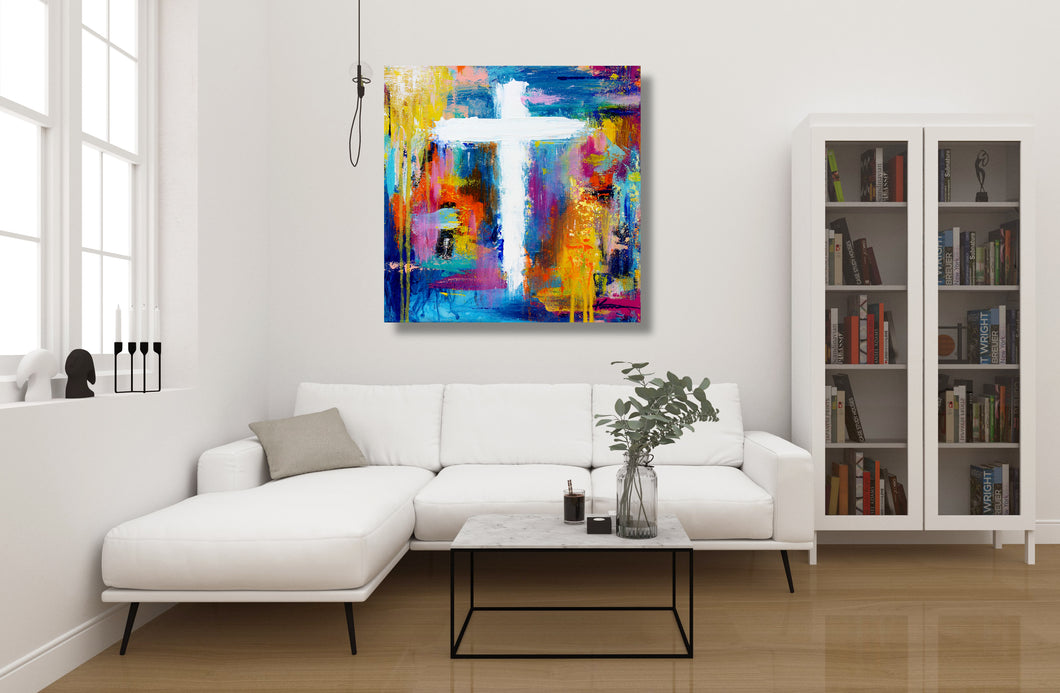 Cross No.10 - Fine Art Canvas Print