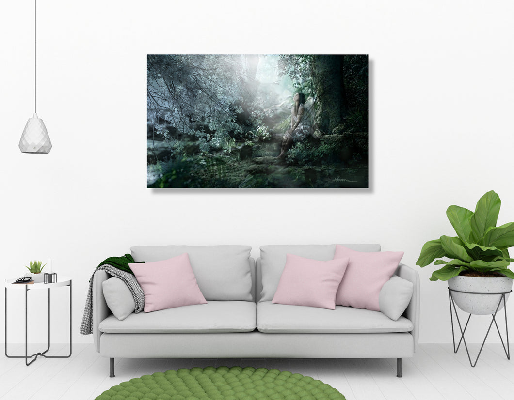 Praying Angel - Fine Art Canvas Print