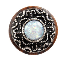 Opal Adorned Wood Plugs