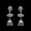 925 Silver Handmade Antique Look Earring With Silver Ball Hanging