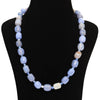 Aqua Blue Agate Necklace