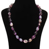 Purple Agate Necklace