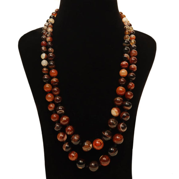 Religious Brown Agate Necklace