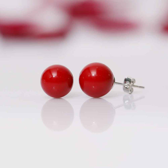 Red Pearl Stud