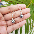 Metallic Black Pearl Earrings