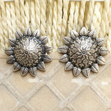 925 Oxidised Silver Tribal Studs