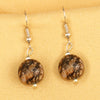 Imeora Rhodonite 12mm Natural Stone Earrings